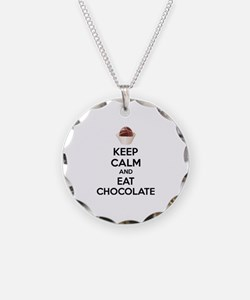 Keep calm and eat chocolate Necklace