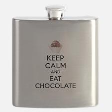 Keep calm and eat chocolate Flask