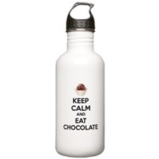 Keep calm and eat chocolate Sports Water Bottle