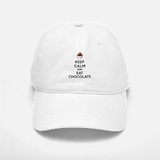 Keep calm and eat chocolate Baseball Baseball Cap