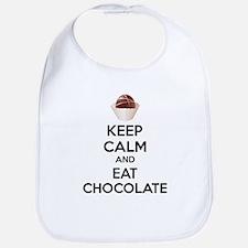 Keep calm and eat chocolate Bib