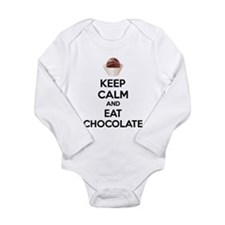 Keep calm and eat chocolate Long Sleeve Infant Bod