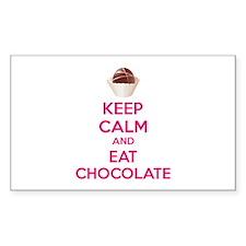 Keep calm and eat chocolate Decal