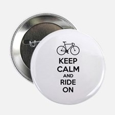 """Keep calm and ride on 2.25"""" Button (100 pack)"""