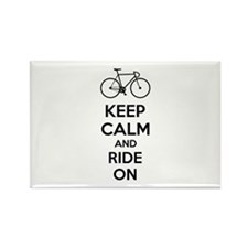 Keep calm and ride on Rectangle Magnet