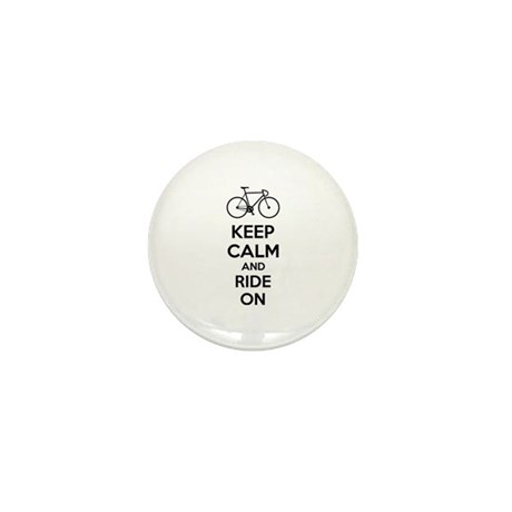 Keep calm and ride on Mini Button (10 pack)