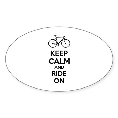 Keep calm and ride on Sticker (Oval 10 pk)