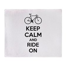 Keep calm and ride on Throw Blanket
