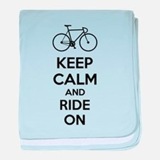 Keep calm and ride on baby blanket