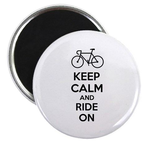 """Keep calm and ride on 2.25"""" Magnet (100 pack)"""