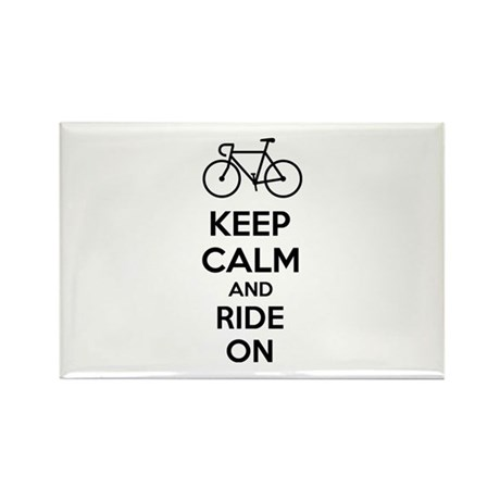 Keep calm and ride on Rectangle Magnet (100 pack)