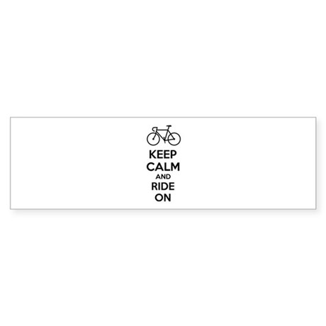 Keep calm and ride on Sticker (Bumper)