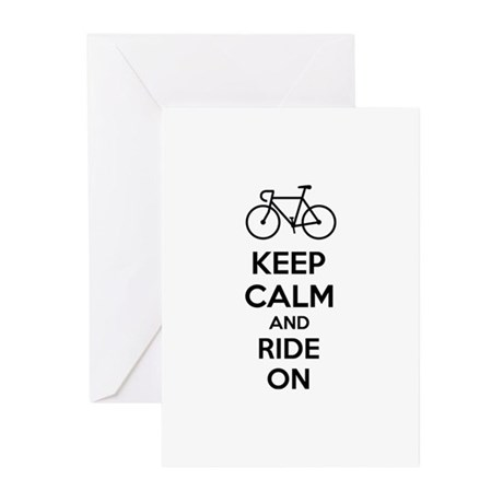 Keep calm and ride on Greeting Cards (Pk of 20)