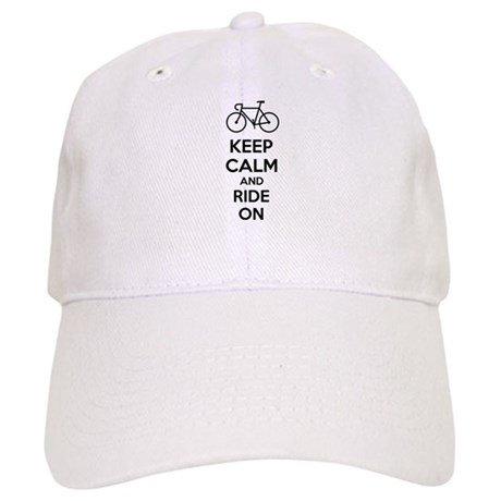 Keep calm and ride on Cap