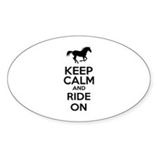 Keep calm and ride on Decal