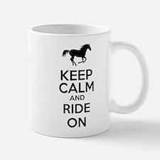 Keep calm and ride on Mug