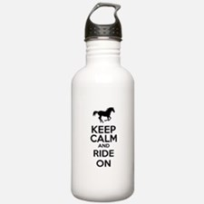 Keep calm and ride on Sports Water Bottle