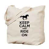 Keep calm and ride on Bags & Totes