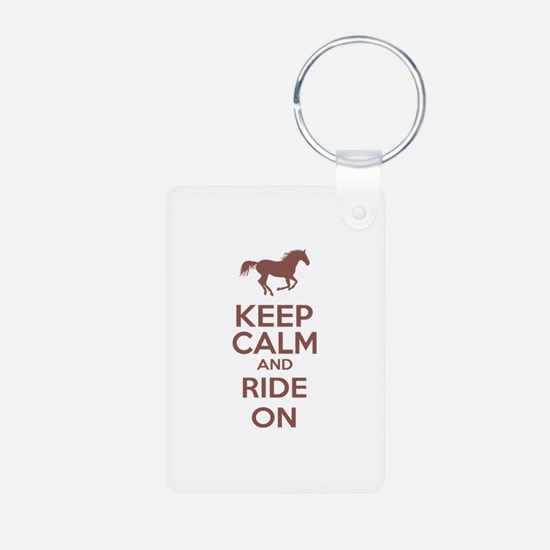 Keep calm and ride on Keychains