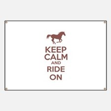 Keep calm and ride on Banner