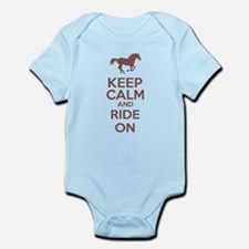 Keep calm and ride on Infant Bodysuit