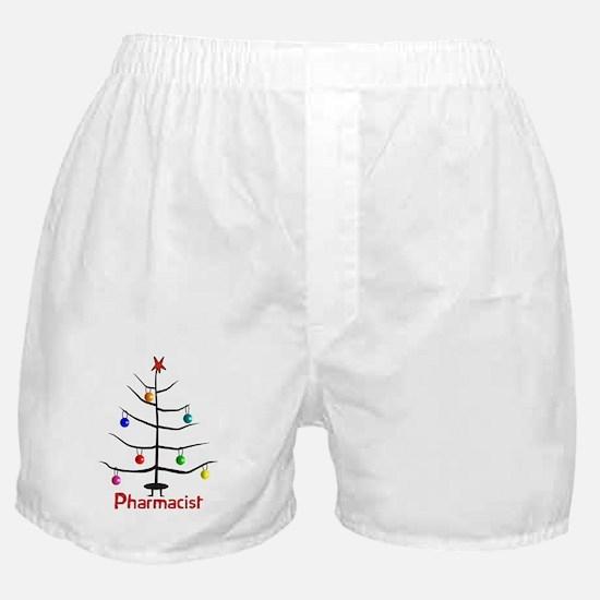pharmacist Christmas tree stick.PNG Boxer Shorts