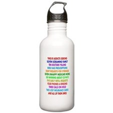 Pharmacist 12 days of Christmas.PNG Water Bottle