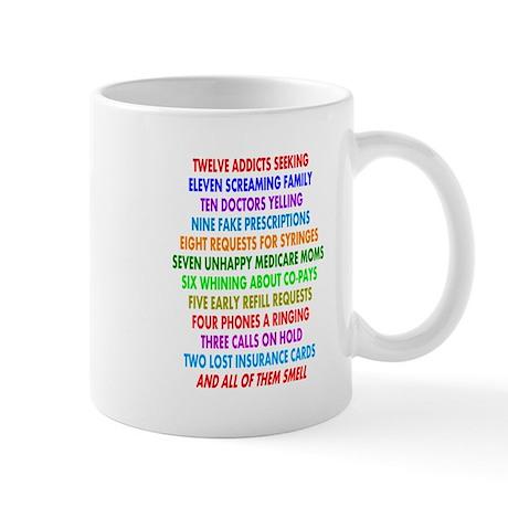 Pharmacist 12 days of Christmas.PNG Mug