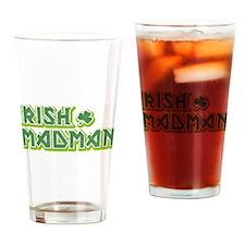 IRISH MADMAN Drinking Glass