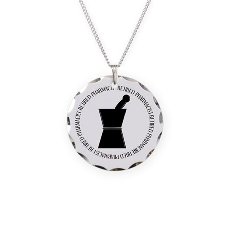 retired pharmacist pestle and mortar.PNG Necklace