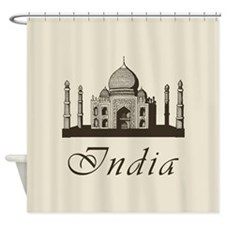 Retro India Taj Mahal Shower Curtain