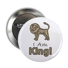 I Am King! Button