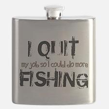 I Quit Fishing Flask