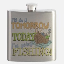 Today I'm Going Fishing Flask