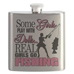 Real Girls Go Fishing Flask