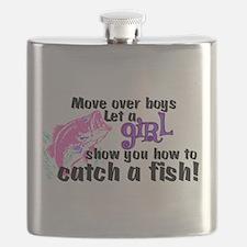 Move Over Boys - Fish Flask