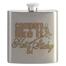 Hot & Sticky Campers Flask