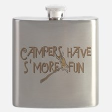 Campers Have S'More Fun! Flask