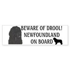 Beware of Drool Bumper Sticker