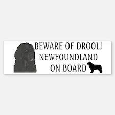 Beware of Drool Bumper Bumper Sticker