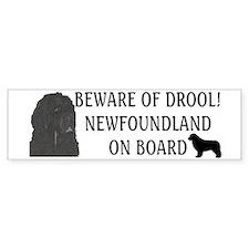 Beware of Drool Bumper Sticker