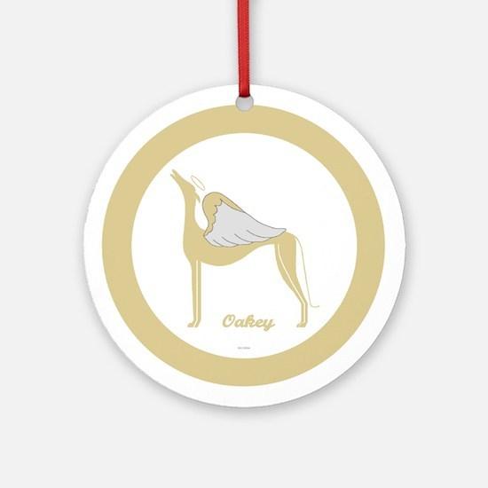 OAKEY ANGEL GREY ROUND ORNAMENT