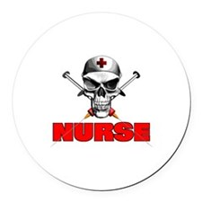 Evil Nurse Round Car Magnet