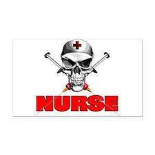 Evil Nurse Rectangle Car Magnet