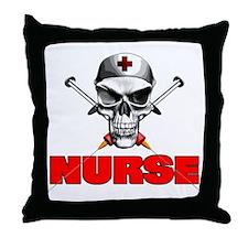 Evil Nurse Throw Pillow