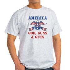 America God, Guns and Guts T-Shirt