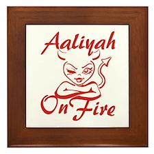 Aaliyah On Fire Framed Tile