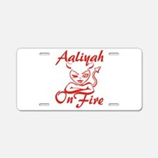Aaliyah On Fire Aluminum License Plate