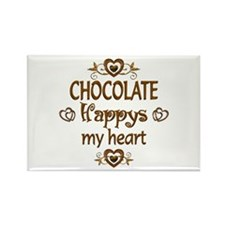 Chocolate Happy Rectangle Magnet (10 pack)