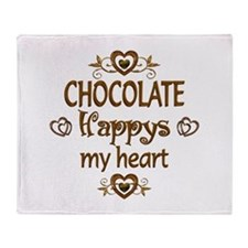 Chocolate Happy Throw Blanket